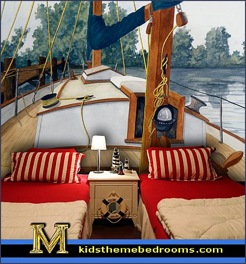 Decorating theme bedrooms maries manor nautical bedroom for Decoration yacht