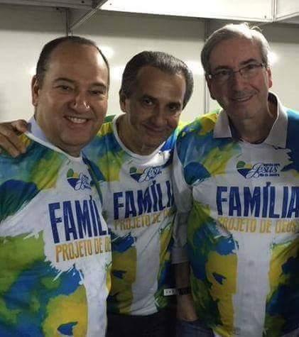 Eduardo Cunha, Silas Malafaia, Everaldo, pastores, deputado