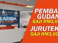 Jawatan Kosong di Lazada Malaysia - Minima SPM / Gaji RM3,000.00 Sebulan