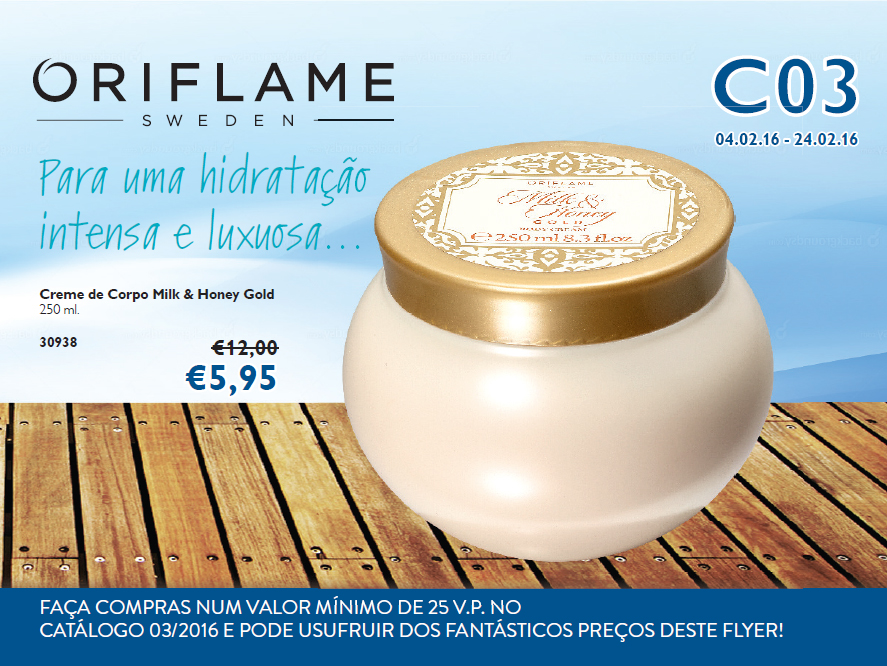Flyer do Catálogo 03 de 2016 da Oriflame