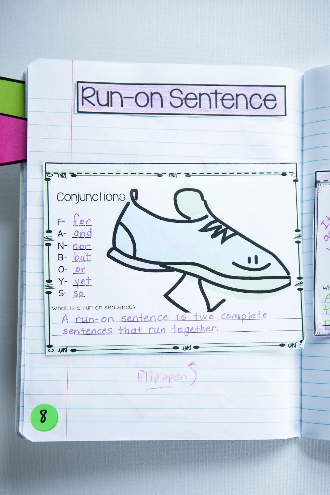 Writing Mini Lesson #4- Run-On Sentences   Rockin Resources [ 1600 x 1068 Pixel ]