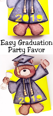 "Whether you need a graduation gift for your student to give to their fellow classmates, or a quick and easy graduation party favor, this cute bear screams ""great job!"" and is the perfect answer to your graduation party needs. #graduationparty #graduationcutfile #graduationsvg #diypartymomblog"