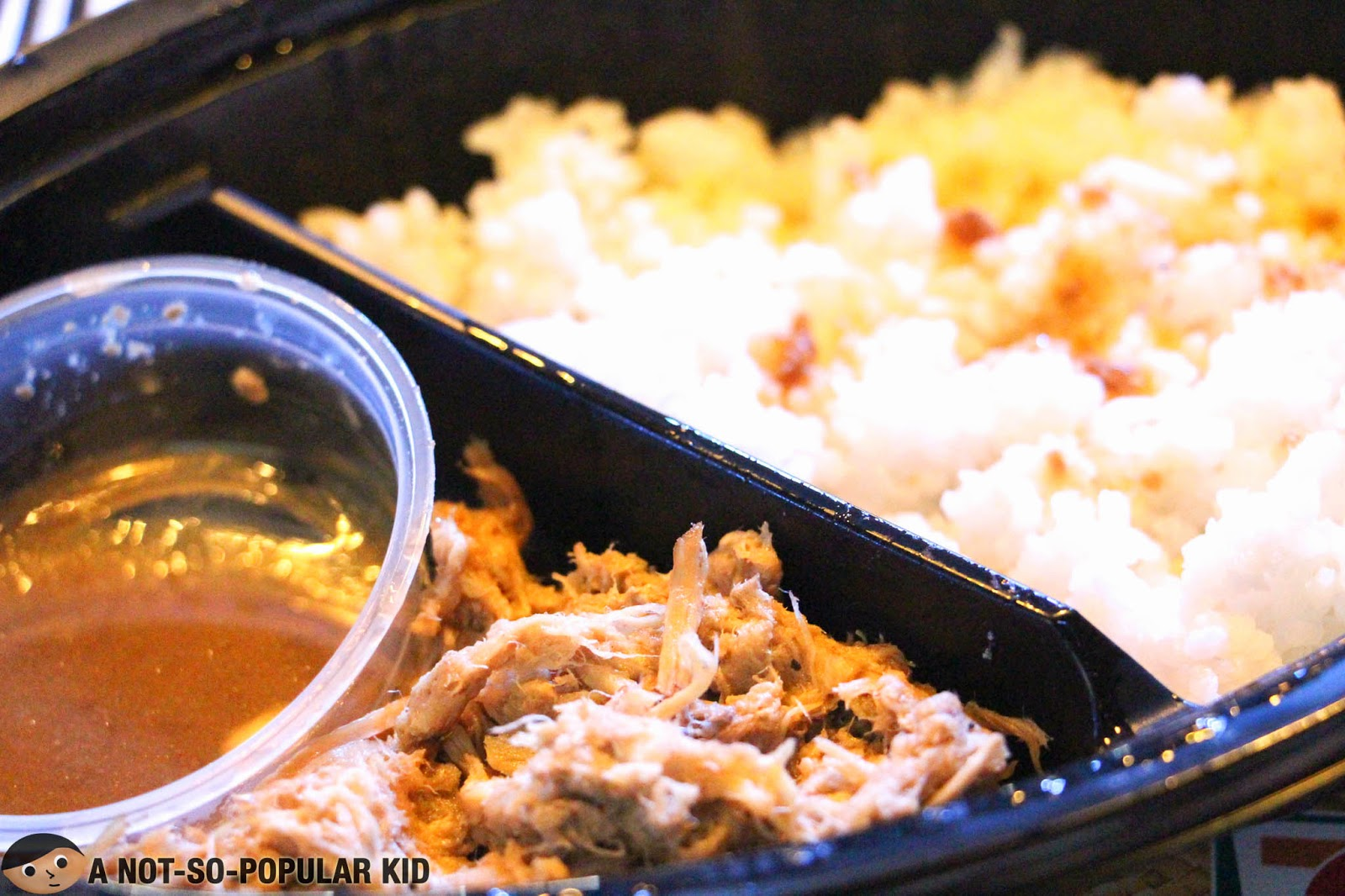 A closer look of the Pulled Pork with Adobo Dip of 7 Eleven's Chef Creations