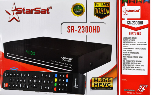 Starsat SR 2300 HD HEVC Full Server Setting Information SW