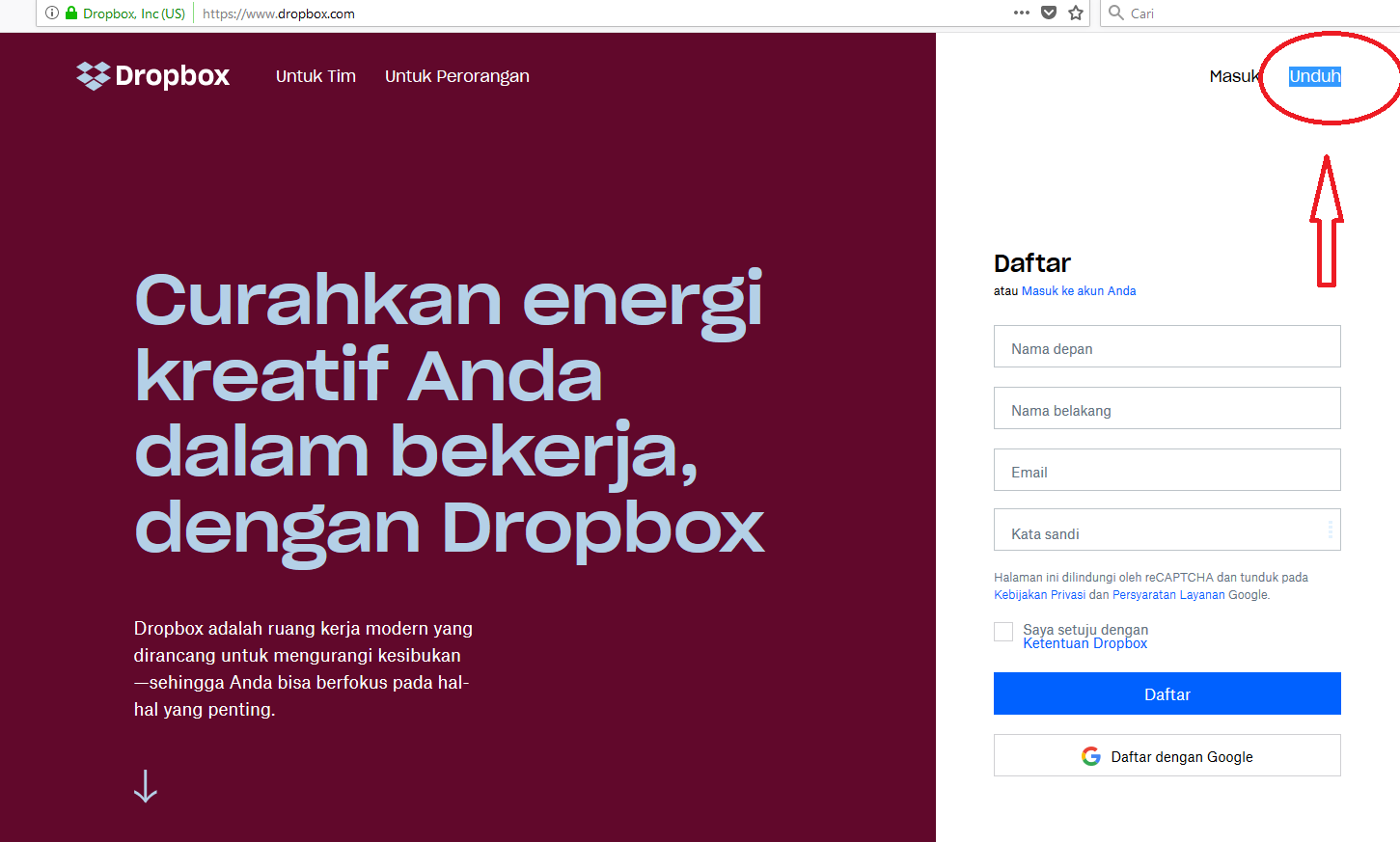 tutorial dropbox pejabat lelang kelas II