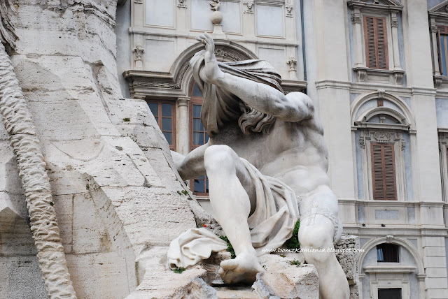 Fontanna Czterech Rzek na Piazza Navona