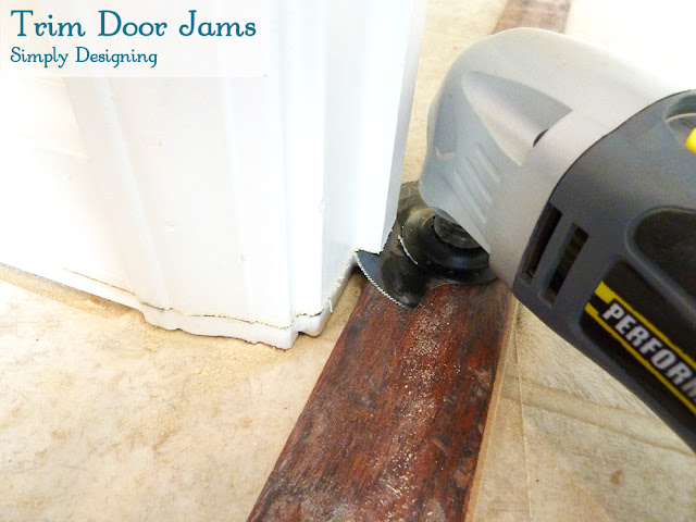 How to Trim Door Jams | #diy #flooring #homeimprovement | at Simply Designing
