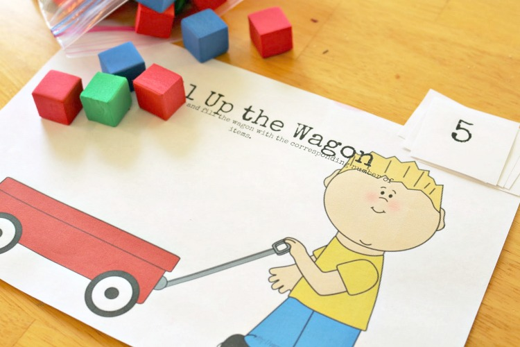 letter w wagon math activity
