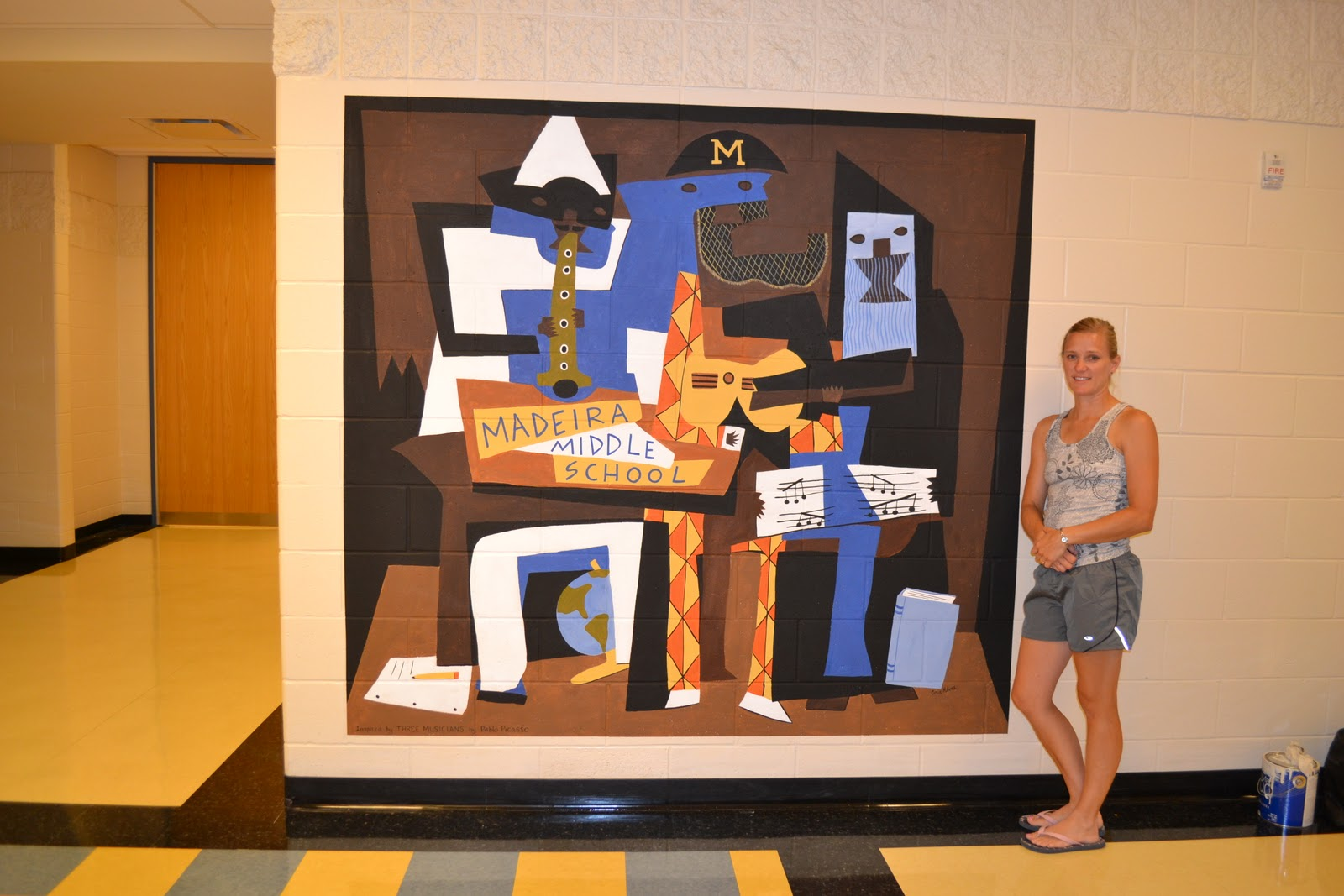 You Re Art By Corie Kline Picasso School Mural