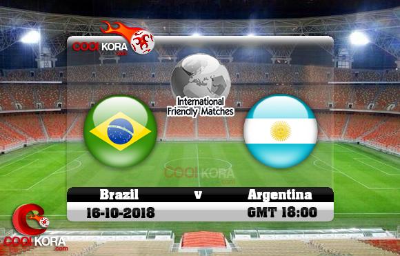 مشاهدة مباراة البرازيل والأرجنتين اليوم 16-10-2018 مباراة ودية