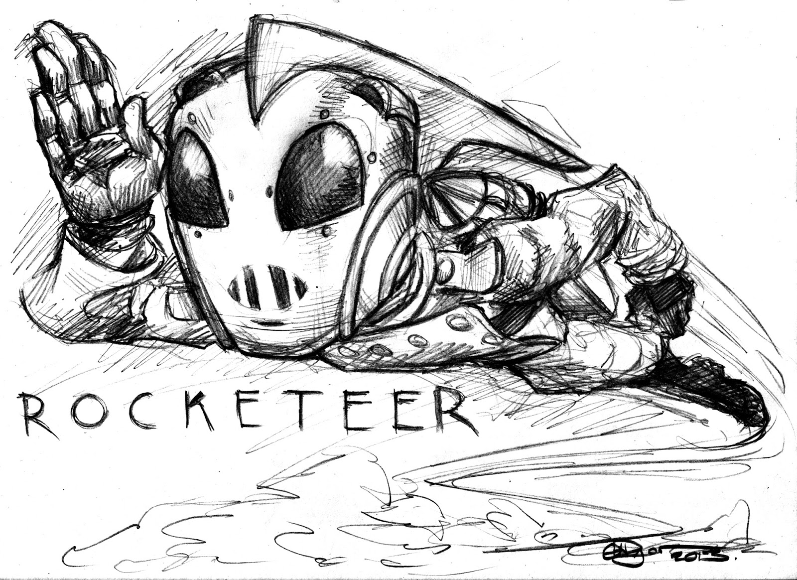 The Art Of Ed Dyer Rocketeer
