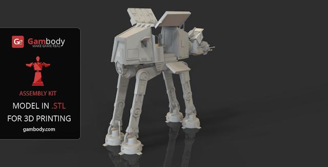 Star Wars AT-AT 3D design
