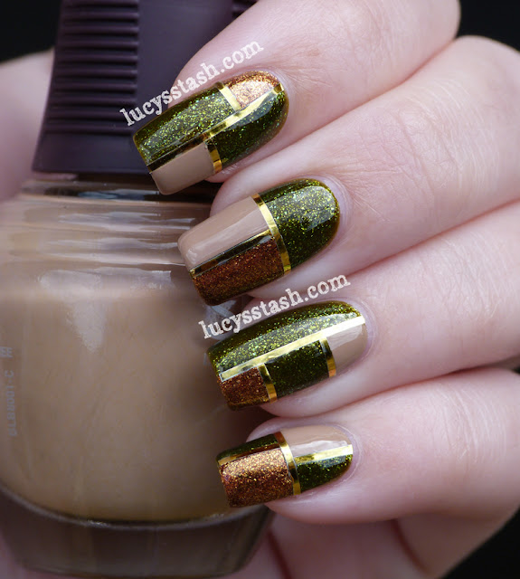 Elegant Squares Manicure featuring SpaRitual Optical Illusion, Conduit and Back To Your Roots