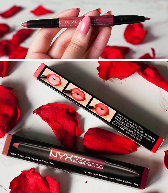 NYX ombre lip duo cinnamon & spice review