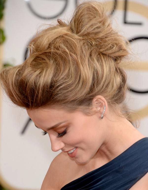 Amber Heard style hair updo