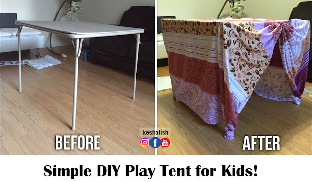 keshalish: Simple DIY Play Tent for Kids | Make Indoor Play Tent ...