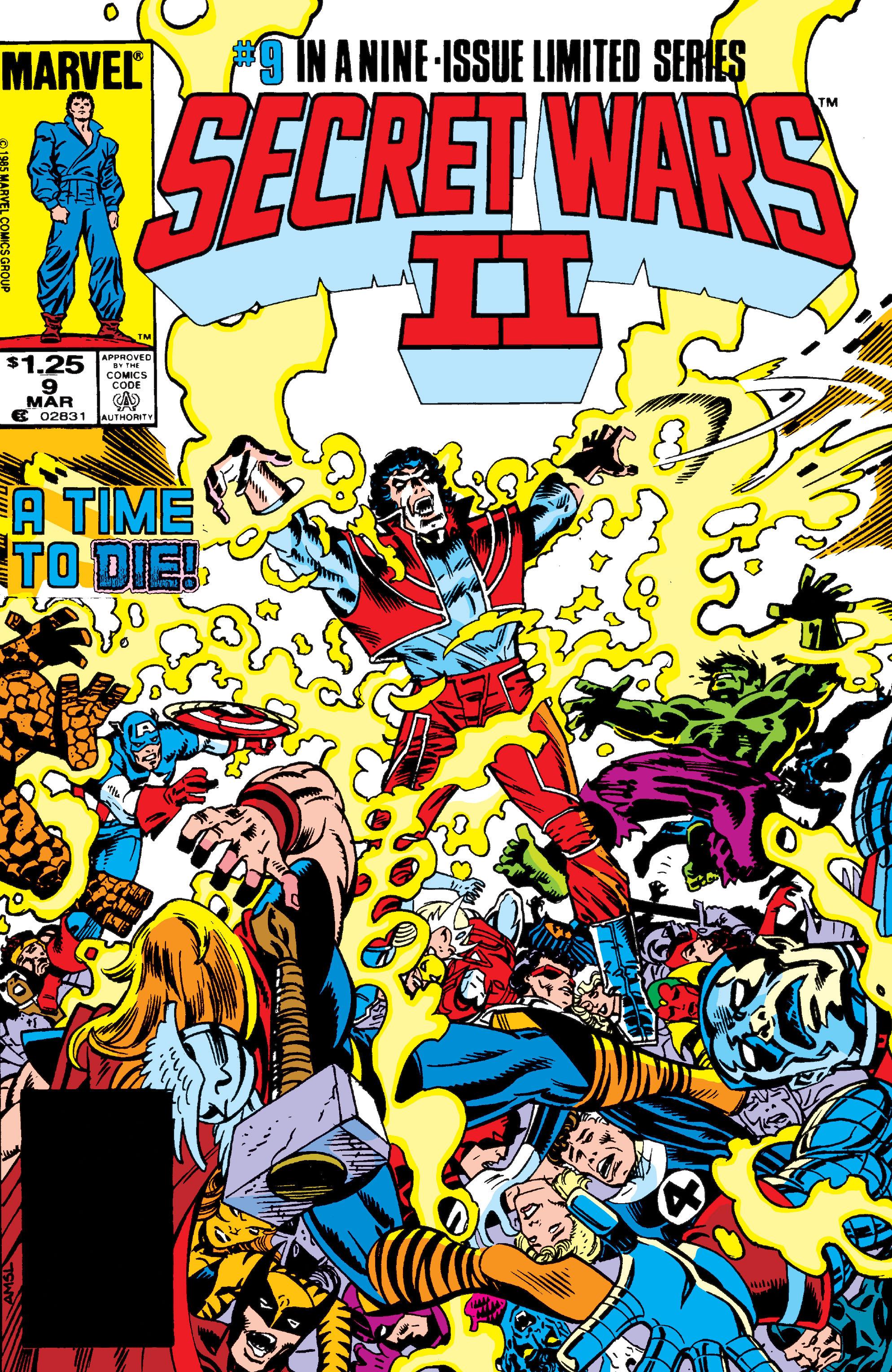 Read online Secret Wars II comic -  Issue #9 - 1