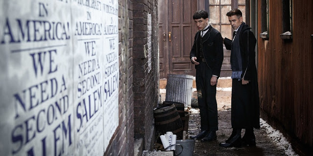 Ezra Miller e Colin Farrell em ANIMAIS FANTÁSTICOS E ONDE HABITAM (Fantastic Beasts and Where to Find Them)