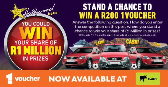 1voucher at FLASH and R1 Million in prizes combined Facebook Promotion