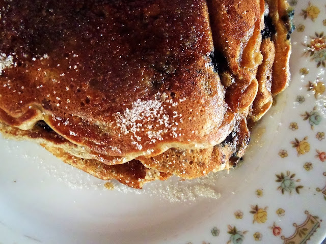 blueberry bacon pancakes
