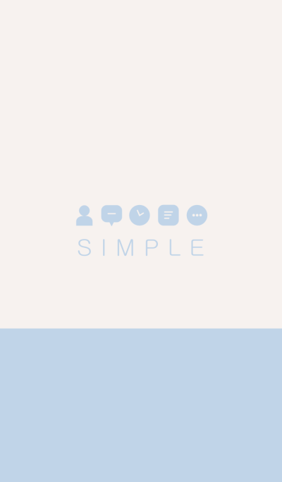 SIMPLE(beige blue)V.7b