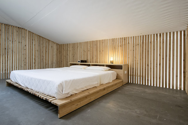 camera da letto loft ristrutturato