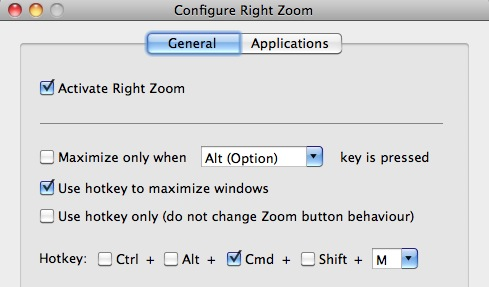 right zoom mac os x