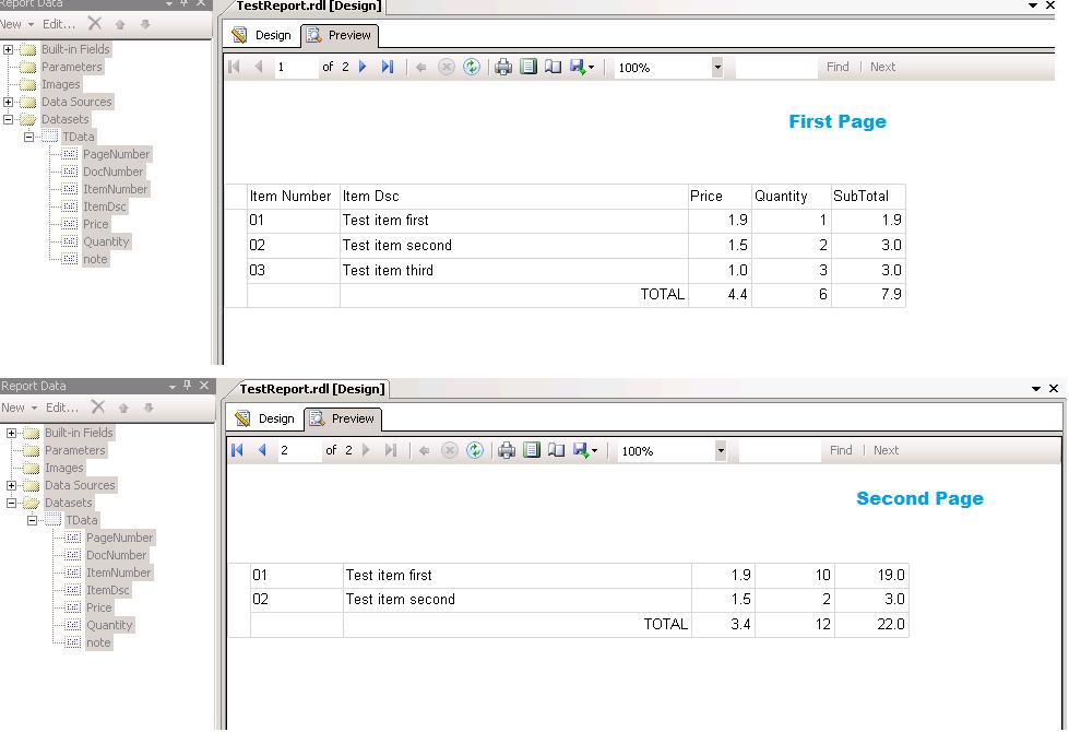 Visual Studio/Reporting Services/SQL Server/Microsoft
