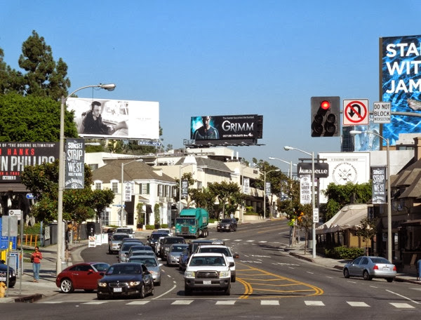 Grimm season 3 billboard Sunset Strip