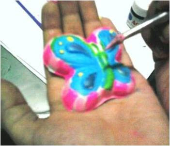 Painting the Butterfly Mould