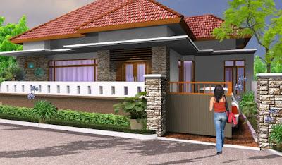 Model pagar batu alam terbaru