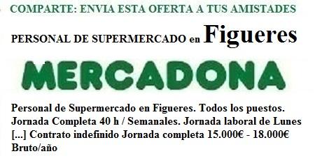 Figueres, Girona. Lanzadera de Empleo Virtual. Oferta Mercadona
