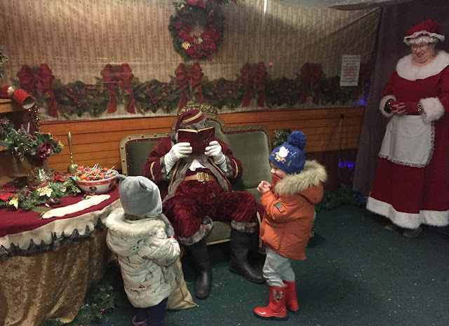 santa at whitehouse farm with Mrs Claus