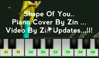 Shape Of You Piano Cover Youtube Video