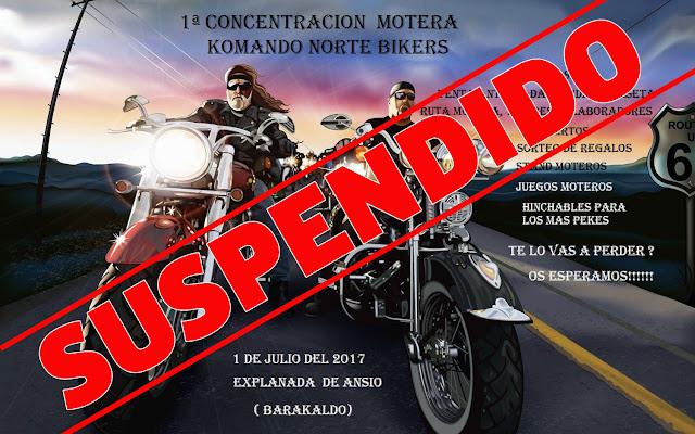 Suspensión de la concentración motera de Komando Norte Bikers