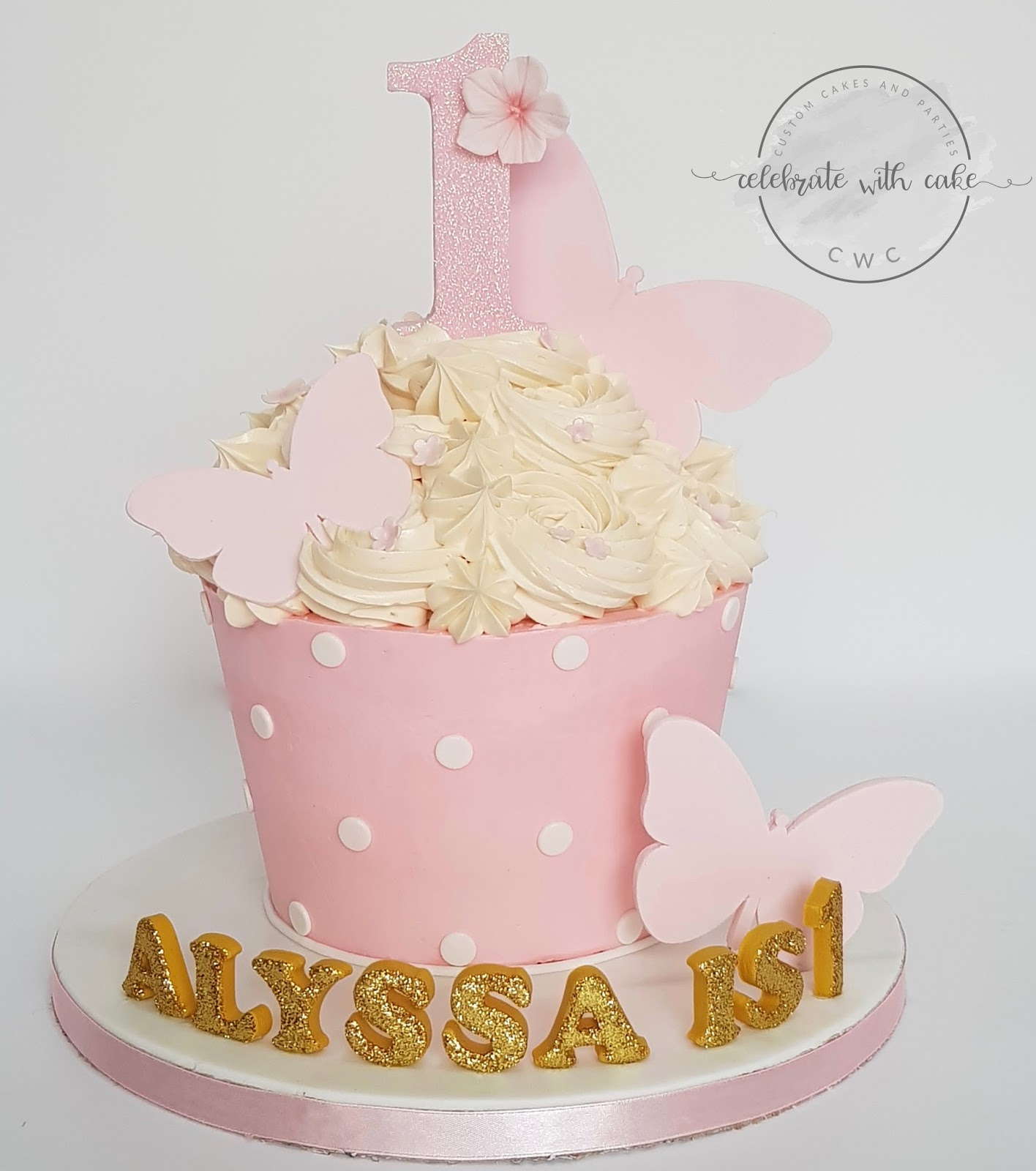 Astounding Celebrate With Cake 1St Birthday Giant Cupcake Smash Cake Funny Birthday Cards Online Necthendildamsfinfo