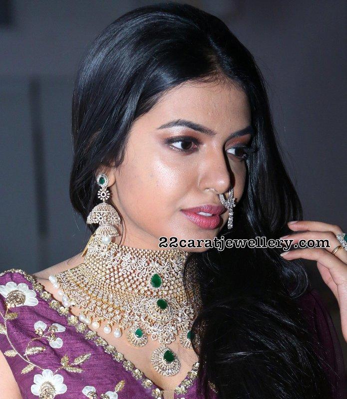 Shivani Rajashekar Heavy Diamond Set