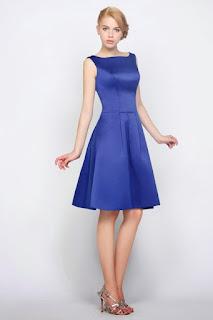 Vestido azul para casamento no civil