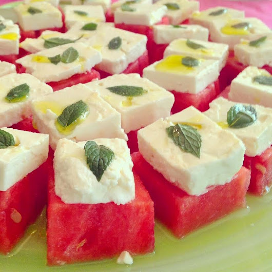Watermelon Feta Bites