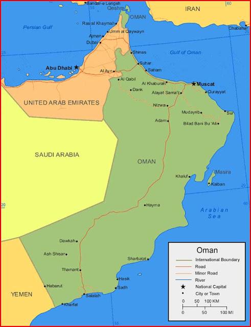 Gambar Peta Oman