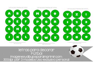 letras para decorar fiestas de fútbol