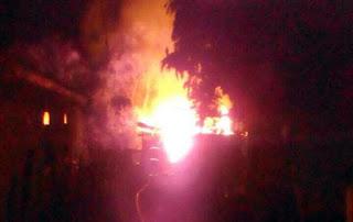 Roncador: Incêndio destrói residência no Jardim Anchieta