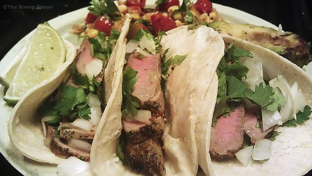 Mexican Street-Style Steak Tacos | www.therisingspoon.com