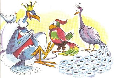 el aguila y las aves fabula