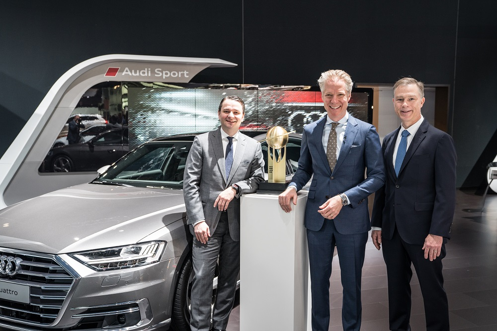 "Audi A8 is the ""World Luxury Car 2018"""