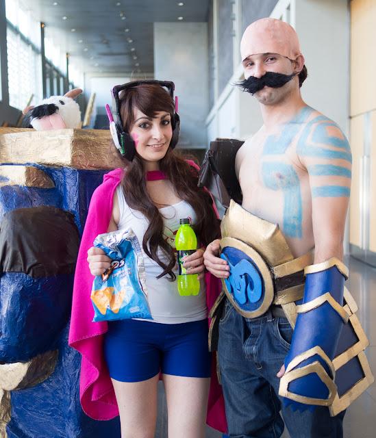 Urano Games Zaragoza 2017 Cosplay (roy mon lechugovich & Amy Raky)