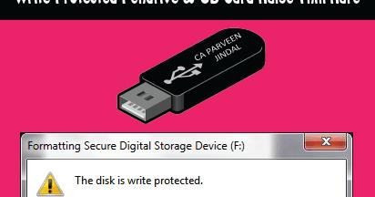 Write Protected Pendrive & SD Card Kaise Thik Kare 2 Tarike