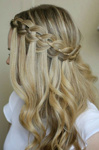 waterfall braid tutorial waterfall braid how to make waterfall braid summer hairstyles