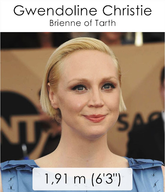 Gwendoline Christie (Brienne of Tarth) 1.91 m