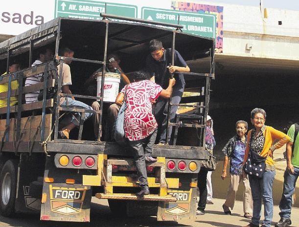 Maracaibo también sufre por la falta de transporte público